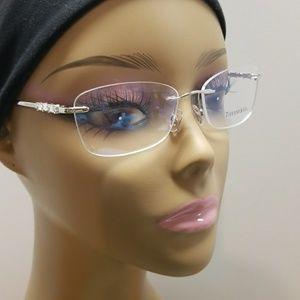 Tiffany Rimless Glasses, Case, Cloth, Paperwork